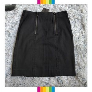 Armani Exchange Knee Length Black Pencil Skirt